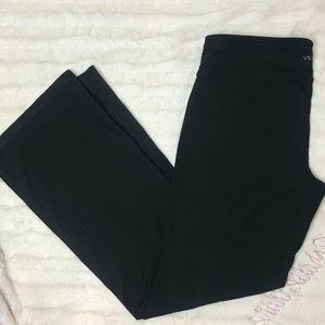 Victoria Secret Black Flare Yoga Pants Large